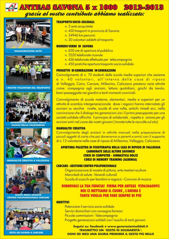 Anteas Poster 5 per Mille